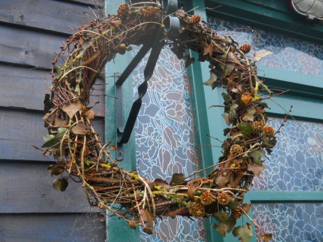 Willow wreath at Bealtaine Cottage