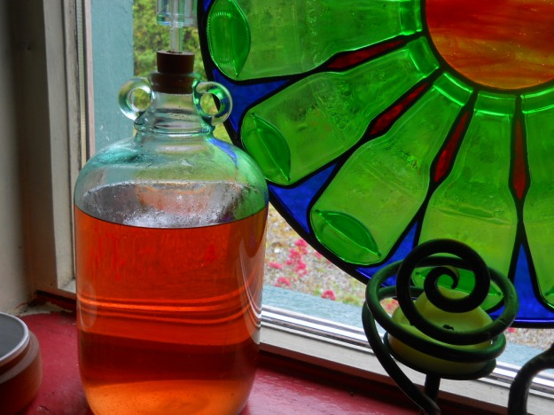 home made wine at Bealtaine Cottage