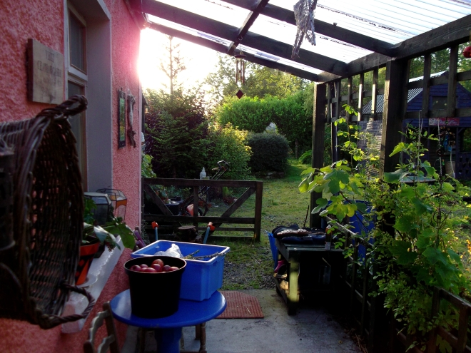 Permaculture at Bealtaine Cottage. The veranda