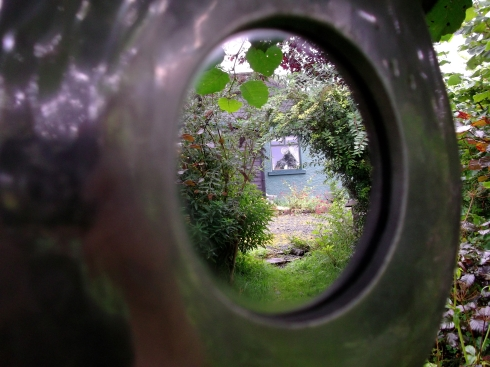 Mirrored cottage of Bealtaine Permaculture Cottage