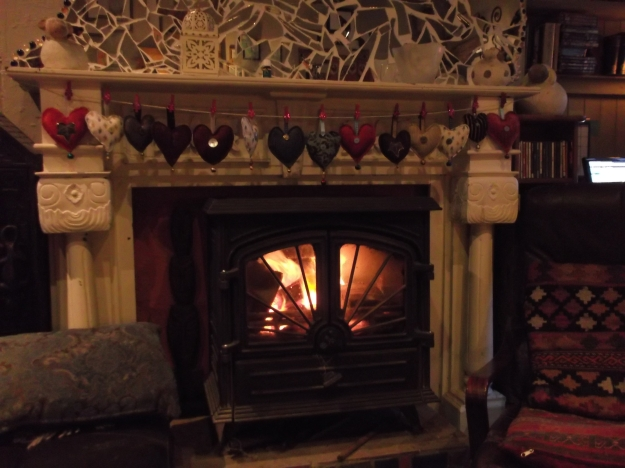 Bealtaine Cottage Permaculture wood burning stove