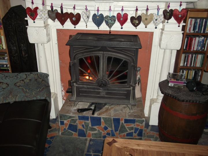 Stove at bealtaine cottage