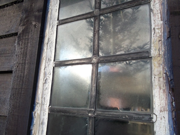 barn window reflection Permaculture @ Bealtaine Cottage 015