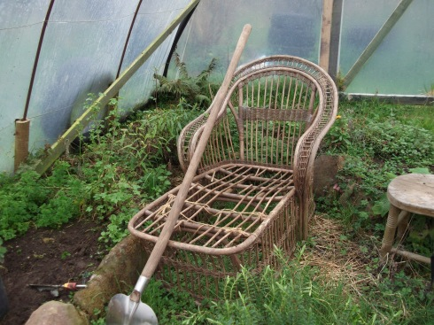 Bealtaine Cottage lounger in the tunnel