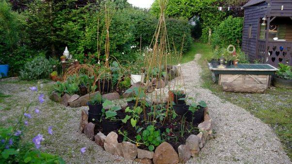 Bealtaine Cottage potager garden