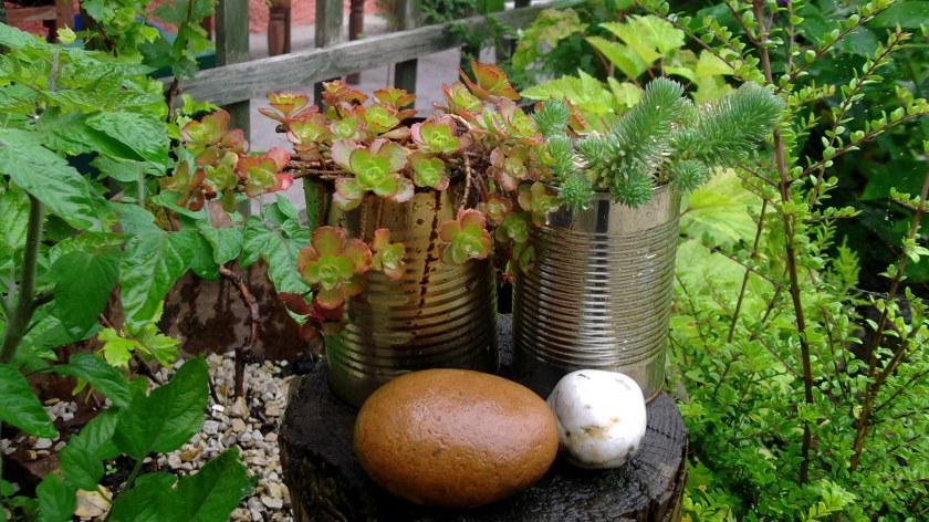 Bealtaine Cottage re-cycled tin cans