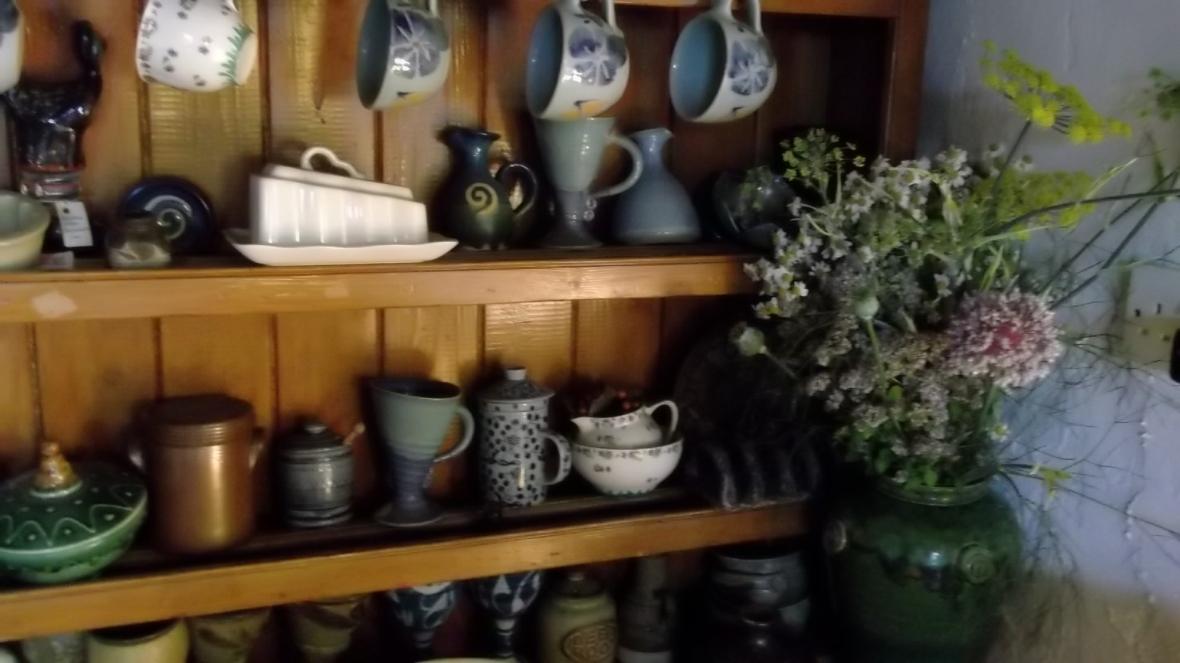 Old Irish dresser at Bealtaine Cottage