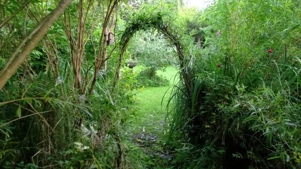 Bealtaine Cottage willow arch