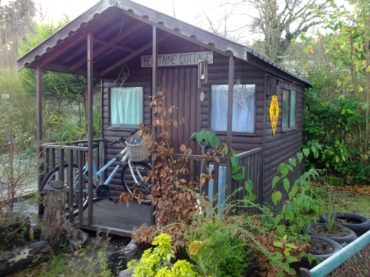 Shed at Bealtaine Cottage Permaculture gardens