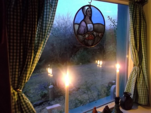 Bealtaine Cottage candles in the window