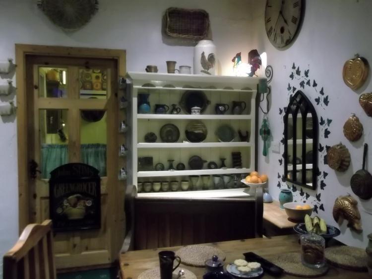 Irish dresser in the cottage kitchen at Bealtaine Cottage