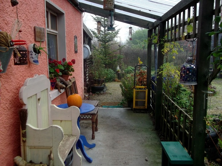 Veranda at Bealtaine Cottage, midwinter 2012