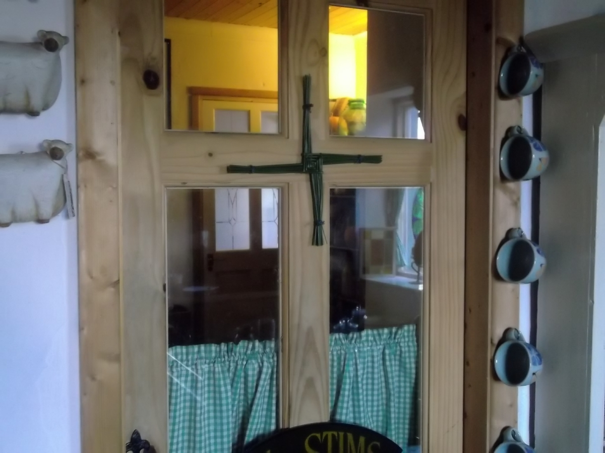 Brigid's Cross made at Bealtaine Cottage