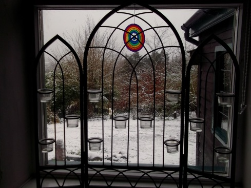 A snowy morning at Bealtaine Cottage, Ireland