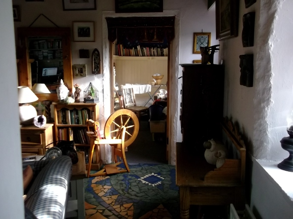 Spinning wheel and craft studio at Bealtaine Cottage