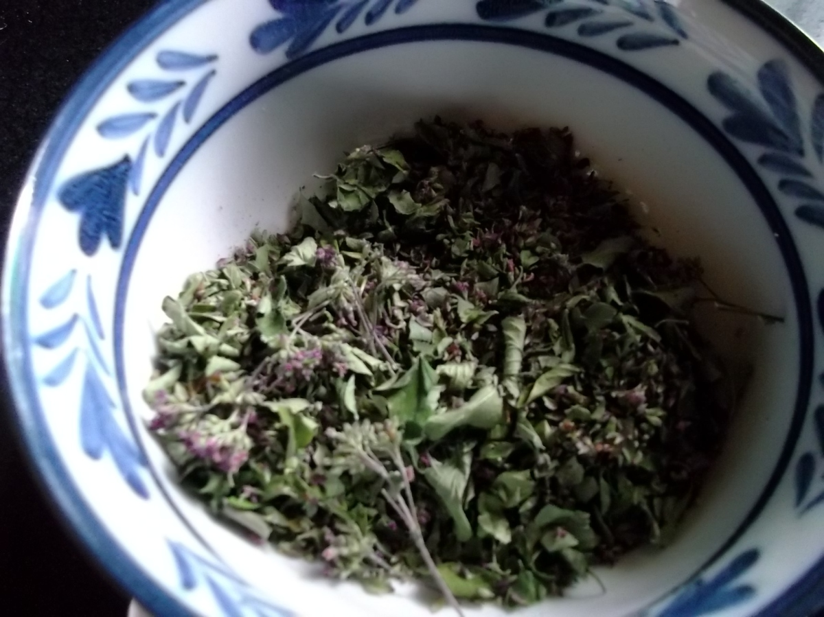 Dried oregano from Bealtaine Cottage Permaculture Gardens Ireland