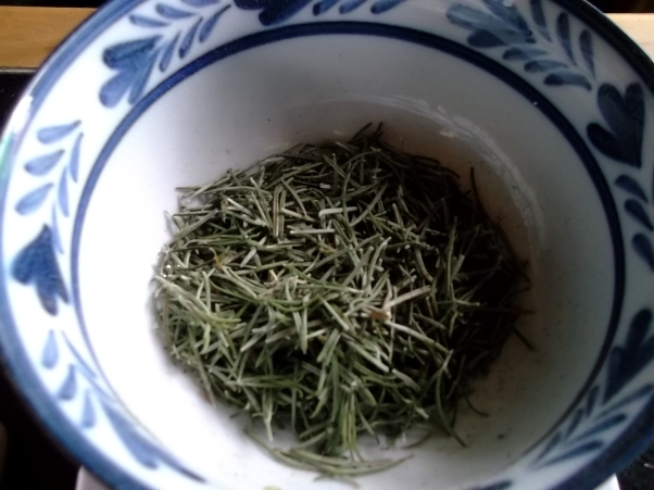 Dried Rosemary at bealtaine Cottage Permaculture Gardens
