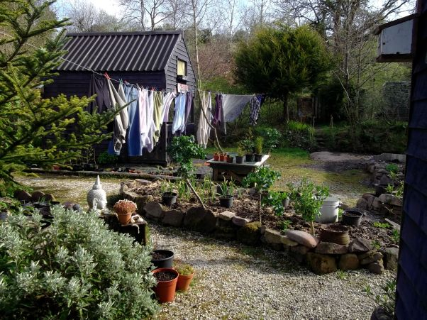 washing on the line at Bealtaine Cottage