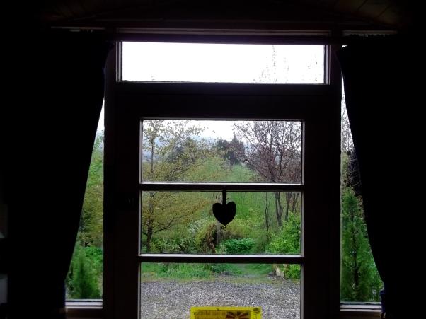 Porch door at Bealtaine Cottage