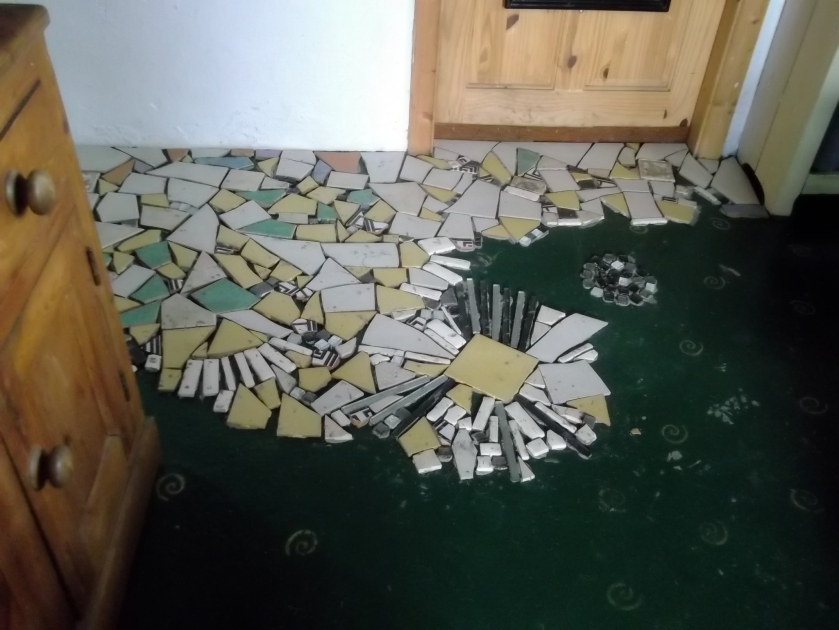 crazy tiling at Bealtaine Cottage