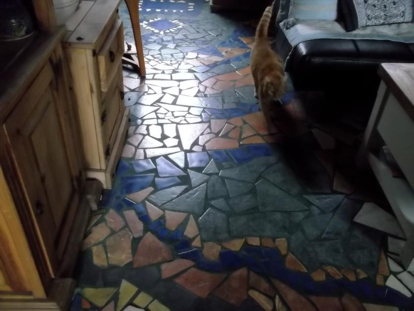Recycled floor