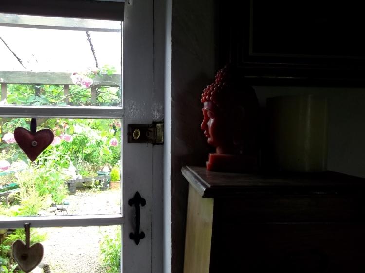 Buddha at the back door