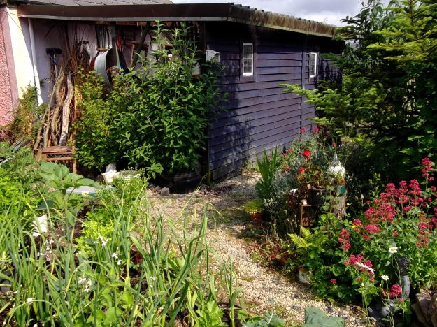 Barn and Potager at Bealtaine Cottage