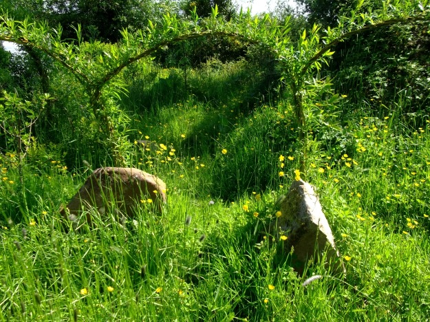 magical stone circle at Bealtaine Cottage