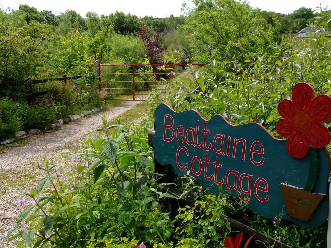 Bealtaine Cottage sign