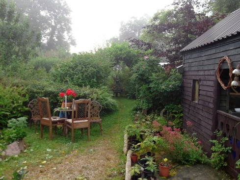 misty morning at Bealtaine Cottage