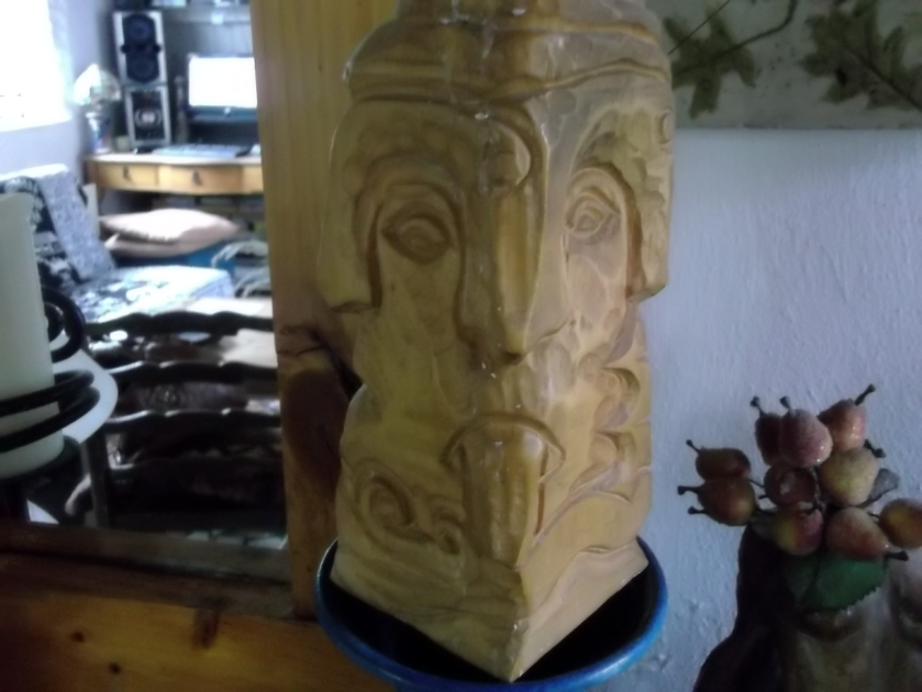 Lughnasa Lugh, carved by Michael Quirke