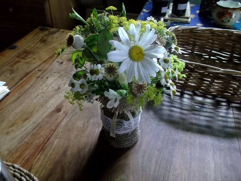 Lughnasa flowers for Michelle's wedding