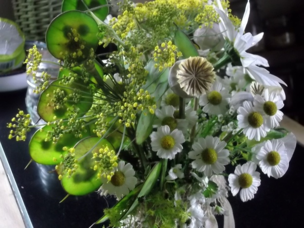 Bealtaine flowers at Lughnasa