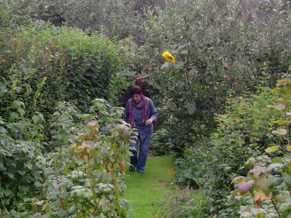 Colette in one of the orchards