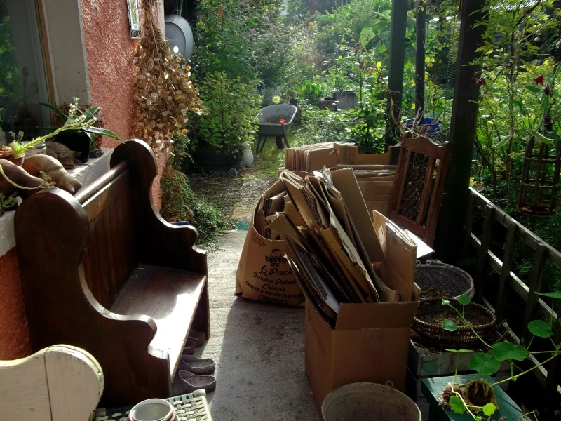 Recycling in the permaculture gardens