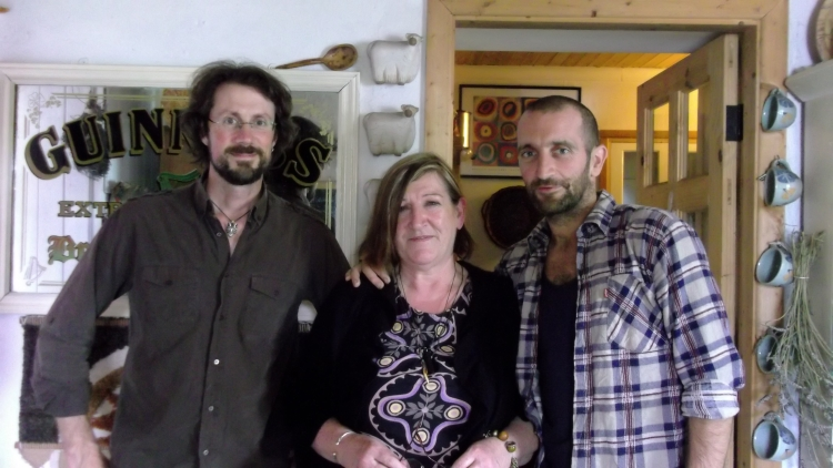 mark boyle and paul kingsnorth at bealtainecottage.com 007