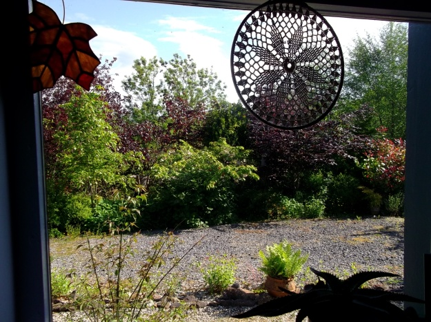view from a window at Bealtaine Cottage
