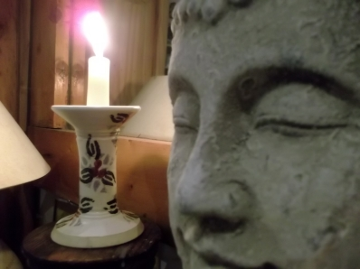 light a candle at Bealtaine Cottage Ireland