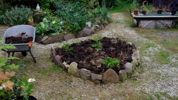 Bealtaine Cottage potager bed