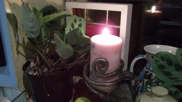 Candle at Bealtaine Cottage