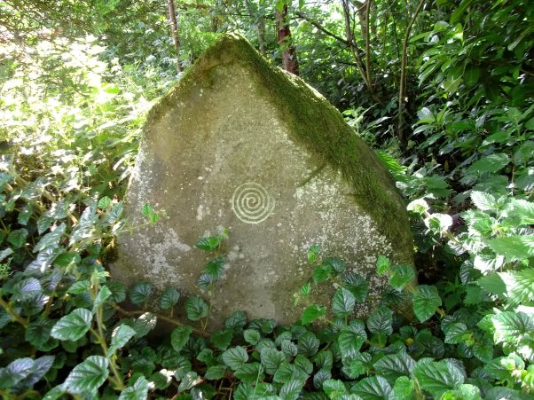 Standing stone at Bealtaine Cottage