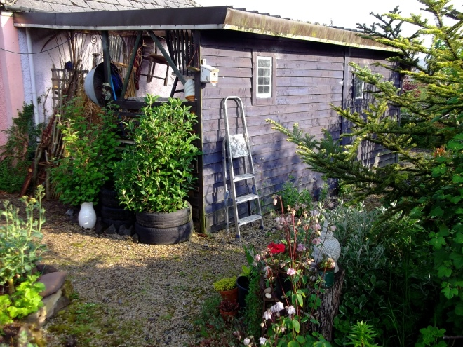 Barn at Bealtaine Cottage Permaculture Gardens