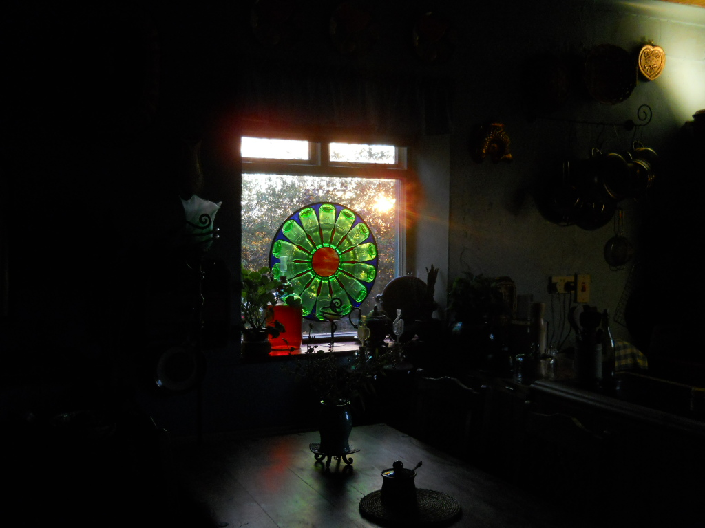 Bealtaine Cottage stained glass