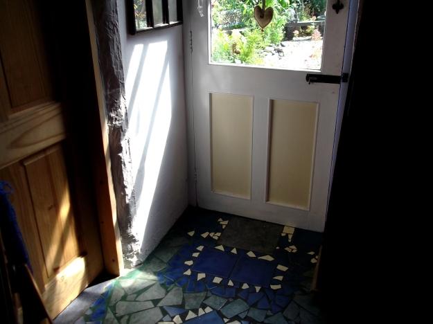 Back door of Bealtaine Cottage
