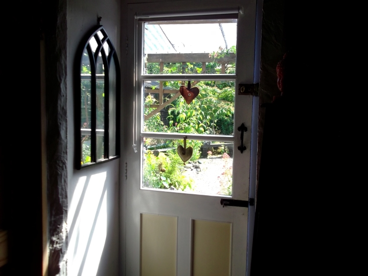 Back door at Bealtaine Cottage