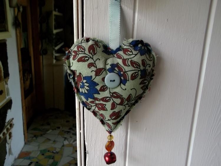 A jingle bell heart