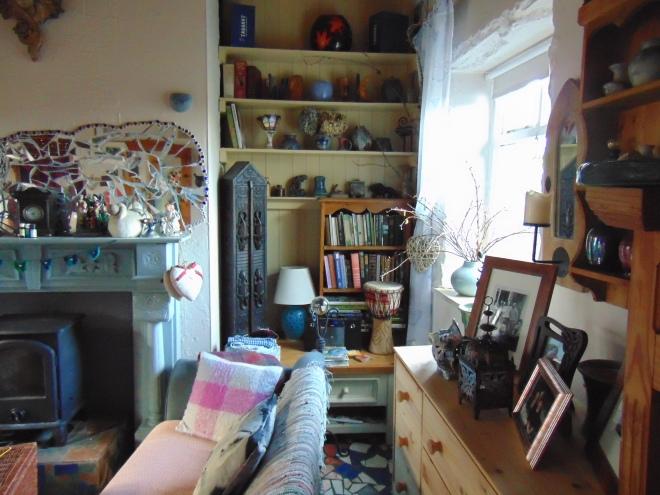 Cottage interior at Bealtaine, 2016