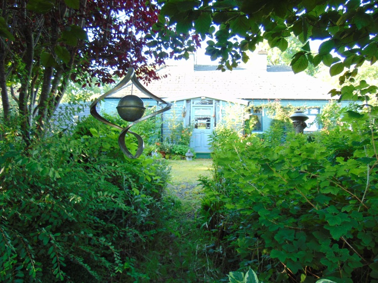 looking back at Bealtaine Cottage from the north bank