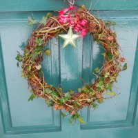 How to Make a Biodegradable Willow Wreath...easy and free!