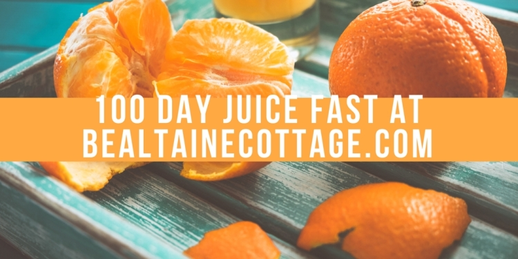 100 Day Juice Fast at bealtainecottage.com (1)